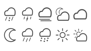 Weather Font screenshot